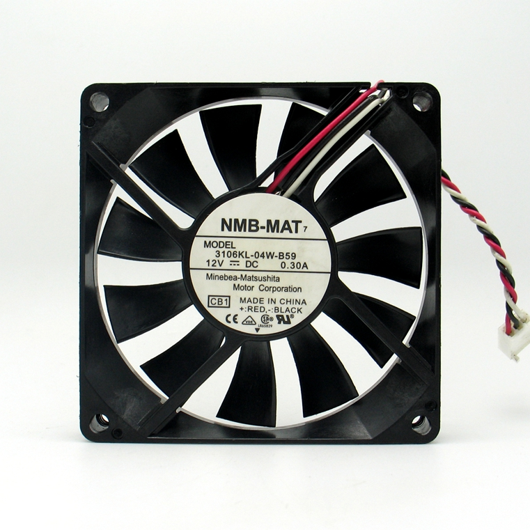 USED NMB MAT NMB 3106KL 04W B59 8015 12V 0.30A 3lines cooling fan|Fans & Cooling Accessories| |  - title=
