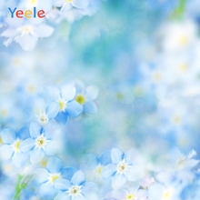 Yeele Vinyl Dreamy Blue Flowers Children Birthday Party Photography Background Wedding Photographic Backdrop Photo Studio