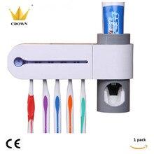 1 кор./лот UV коробка Зубная щётка дезинфицирующее средство Подставка-стерилизатор очиститель здоровья уход за зубами стерилизатор для зубных щеток для хранения