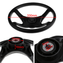 Universal 330mm/13'' ABS Marine Boat Pontoon Yacht Steering Wheel 4 Spoke 3/4'' Tapered Shaft with Center Cap Cabin Accessories 360mm aluminum alloy marine boat sport steering wheel 4 spoke 3 4 shaft for canoe kayak inflatable boat replacement accessories