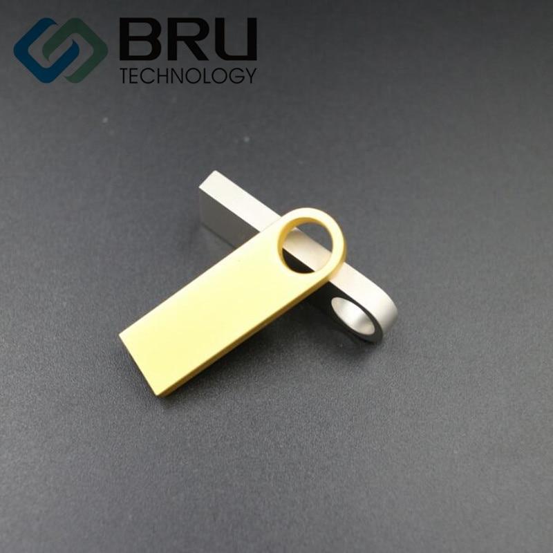 BRU 8GB USB Flash Drive Mini Metal արծաթե անջրանցիկ - Արտաքին պահեստավորման սարքեր - Լուսանկար 2