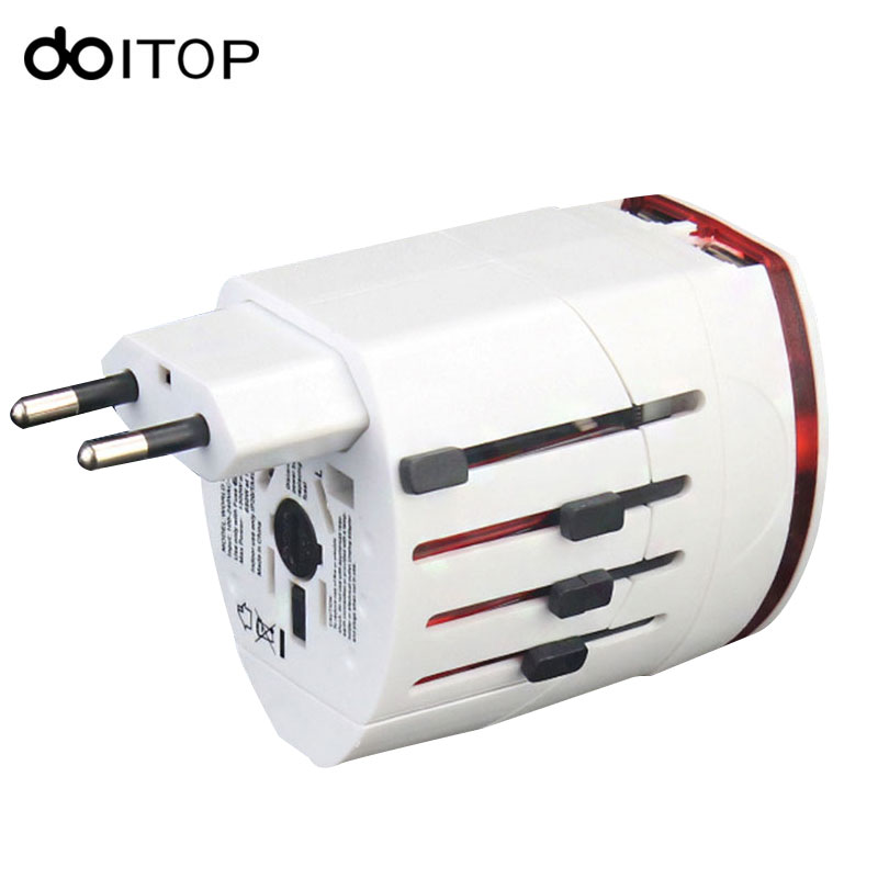 DOITOP Portable Travel Wall Charger Adapter USB Charger Quick Charging EU US UK AU Plug Dual USB Port for Monbilephones Laptop