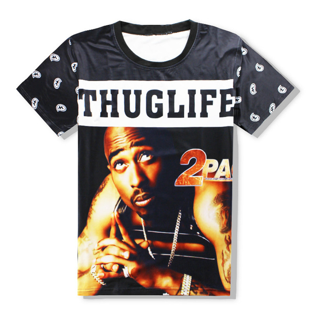 0e606d688 New Funny THUGLIFE 2pac t shirts women/men tee shirts hip hop star Tupac  print 3d t shirts casual unisex tops Hipster Outfits