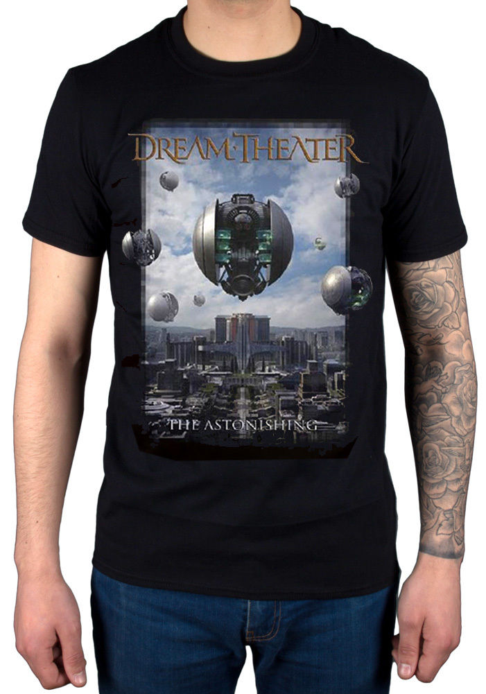 Official Dream Teatro ASTONISHING Unisex Camiseta NUEVO Merchandising John T-Shirt Summer Style Fashion Men T Shirts Top Tee