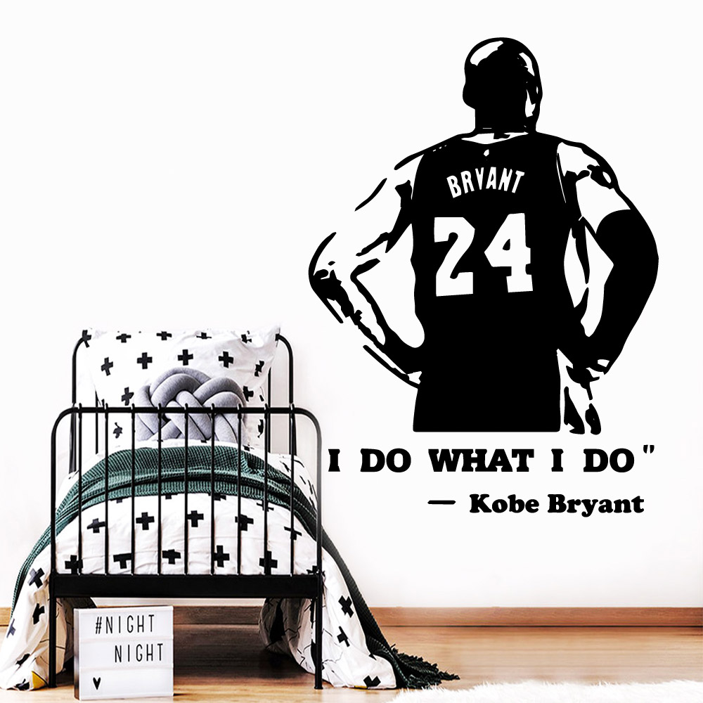 Free shipping Kobe Family Wall Stickers Mural Art Home Decor for Living Room Company School Office Decoration Wall Art Decal in Wall Stickers from Home Garden