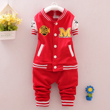 Kids Boutique Clothes 2016 New Baseball Uniform Sport Suit Fashion Clothes Sets Brand Boy Girl Set Clothes 2pces Children Suit