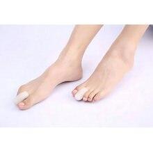 2 par novo silicone toe toe tubo joio toe protetor gel pés cuidados capa toe separadores plantillas para los pies pedicure ferramentas