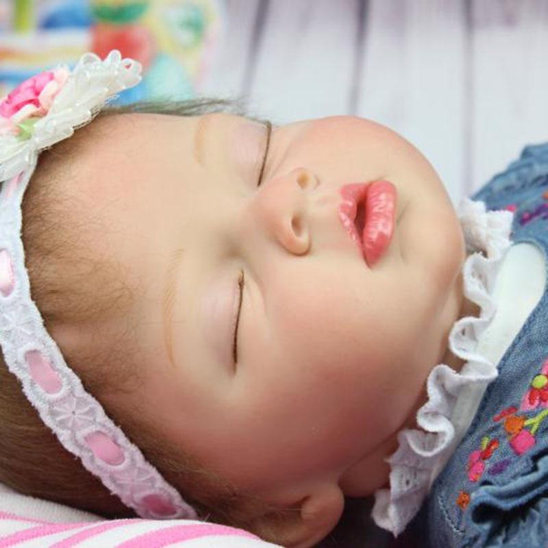 NPK 55cm Simulation Baby Reborn Doll Silicone Lifelike Sleeping Girl Children Toy Photograph Props S7JN подставка под горячее glum gipfel 0212