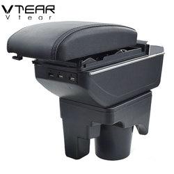 Vtear For VW jetta mk5 Golf mk5 6 armrest interior leather car storage box arm rest center console decoration accessories 2008