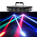 New 8 Heads LED RBGW Stage Lights 80W  Beam Digital Display DMX Show Dance Disco Bar Xmas Home Party DJ Lighting LE-8H