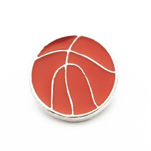 Hot selling 20/lot basketball Snap Buttons 18mm/20mm Jewelry fit Bracelet Bangle Necklaces