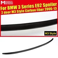 Задний спойлер M3 стиль для BMW E92 2-двери 320i 328i 325i 323i 330 335 задний спойлер задний Багажник крыло автомобиля Стайлинг 06-13