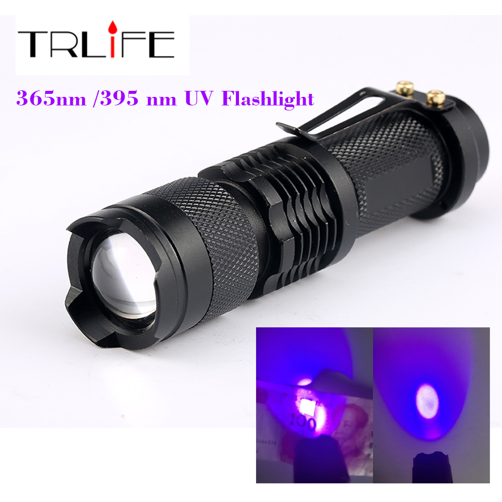 CREE LED 365nm UV Flashlight SK68 Purple Violet Light UV 395nm ...