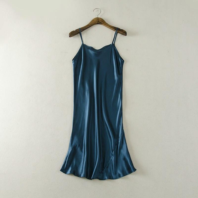 Zijden SLAAP Jurk ECHTE ZIJDE vrouwen nachtkleding gezonde huisjurk - Ondergoed - Foto 2