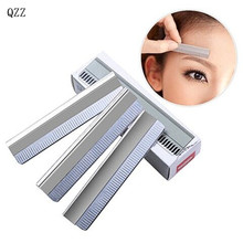 10pcs/pack Eyebrow Trimmer Blades Eyebrow Cutter Equipment Super Feather Cut Special Platinum Coated Edge Razor Blades