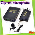 1set Portable Mini Tie Clip-on Mic Microphone Wireless Receiver and Transmmiter, Wireless Microphone Professional Drop Freeship