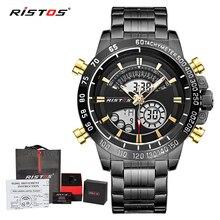 RISTOS Relojes часы мужские модные спортивные кварцевые часы мужские s часы лучший бренд класса люкс Бизнес водонепроницаемые часы Relogio Masculino