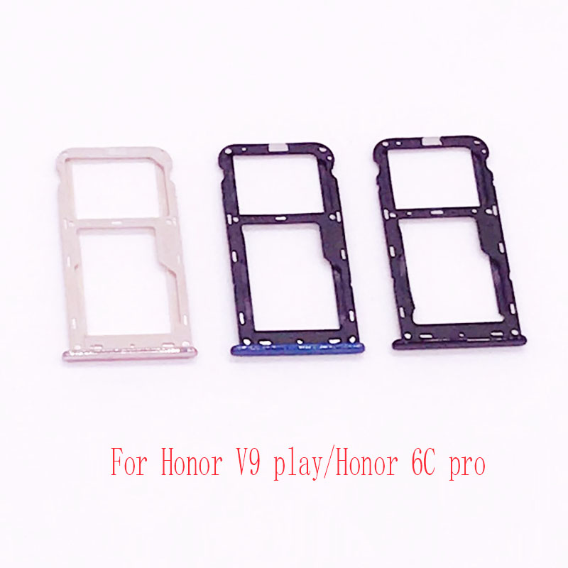Nano SIM&Micro SIM Card Tray Holder Micro SD Card Slot Holder Adapter for Honor V9 play/ ...