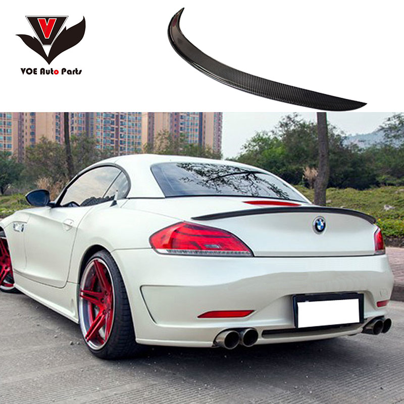 Z4 E89 Coupe Convertible Carbon Fiber 3D Style Car-styling Rear Wing Spoiler for BMW E89 Z4 18i 20i 23i 28i 30i 35i 2009-2014 1 1 replacement for bmw z4 e89 carbon fiber mirror cover 2009 2010 2011 2012 2013 z4 e89 30i 28i 20i 18i carbon