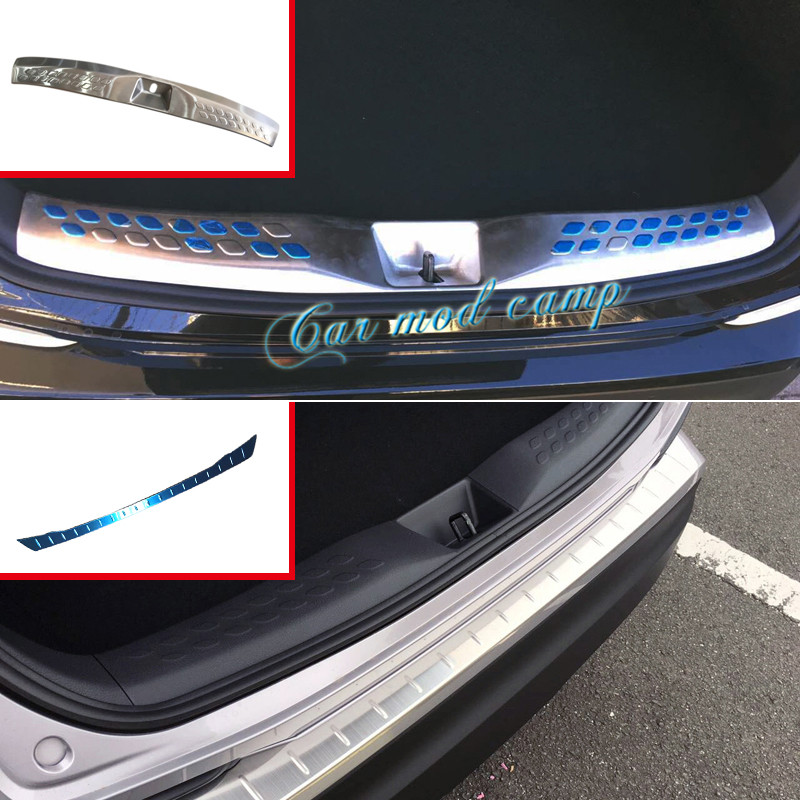 For Toyota CHR C-HR 2016 2017 Rear Bumper Inside Sill Plate Cover Trim Stainless