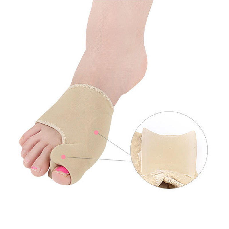 Купить с кэшбэком Bunion Corrector Hallux Valgus Foot Pedicure Sock Bone Thumb Toe Separators Correction Splint Foot Straightener Updated Version