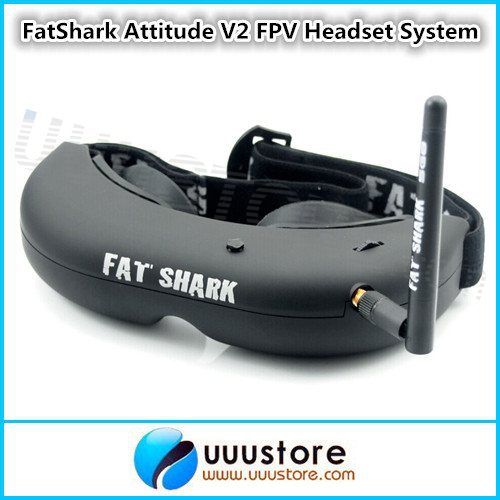 FatShark Attitude V2 FPV Headset Video Glasses System w/Trinity Head Tracker and CMOS Camera