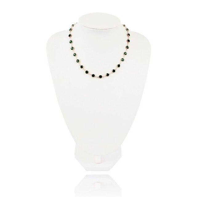 модное геометрическое хрустальное ожерелье с подвеской золотого фотография