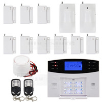 Wireless Wired GSM Home Security Burglar Alarm System With SOS Intercom