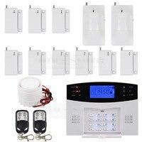 Wireless Wired GSM Home Security Burglar Alarm System With SOS Intercom