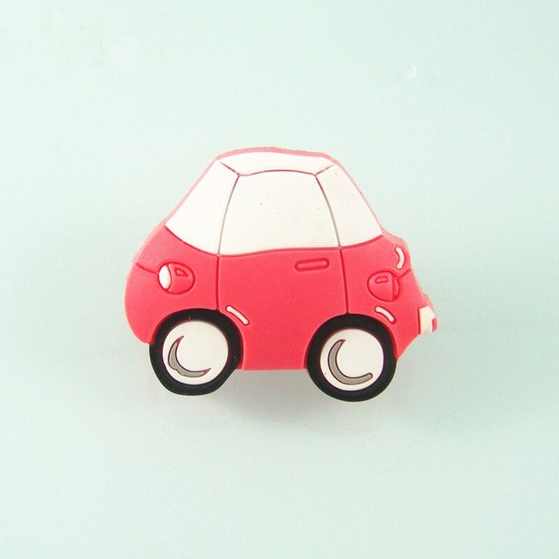 Constructief 47mm * 30mm Kast Handgrepen Kids Roze Auto Ontwerp Zachte Cartoon Meubels Schuifladegrepen Pulls Slaapkamer Dressoir Knoppen Exquise (On) Vakmanschap