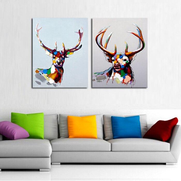 Très Moderne Art abstrait gros de bonne qualité venise animaux peinture  HA99