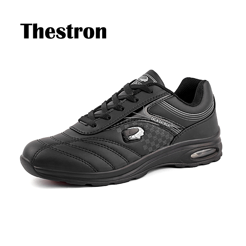 Thestron New Fahion Mens Air-cushion Casual Shoes Spring Autumn Big Size Anti-Slip Black And White Shoe Male Waterproof Outdoor