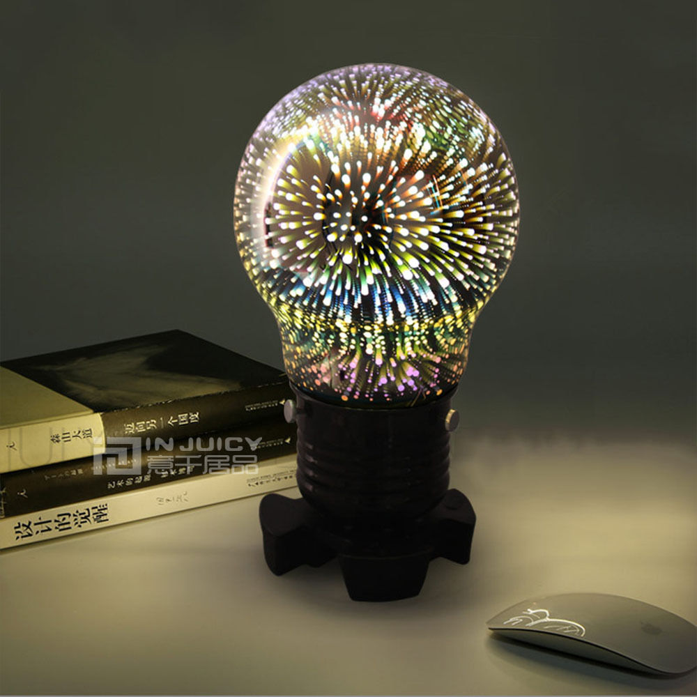 Modern Creative Glass Bar Table Desk Bedside Bed Light Night Lamp Home Bedroom Reading Room Illumination Decor Gift Star indoor brief solid oak wood textile desk lamp fabrics lampshade table light bedroom bedside warm lampara night light luminaria