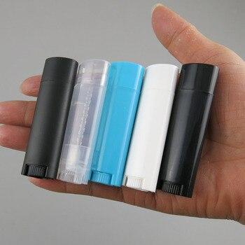 10 x4g Portable Lip Tubes Plastic Empty Oval Lip Balm Tubes