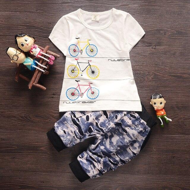 Новое Лето Хлопок Baby Boy Одежда С Коротким Рукавом Футболки + шорты Детские Мальчики Устанавливает Детская Одежда Костюмы для Новорожденных Chidlren