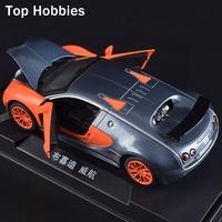 1:32 Modello in Scala Auto Bugatti Diecast Model Car Con Sound & Light Car Collection Giocattoli Veicolo Regalo Per I Bambini
