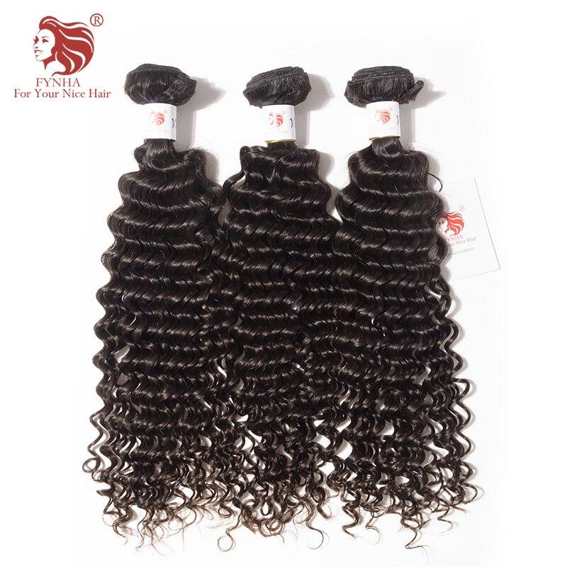 [FYNHA] Kinky Curly Indian Virgin Hair Weave 3 Bundles Human Hair Extensions Natural Black