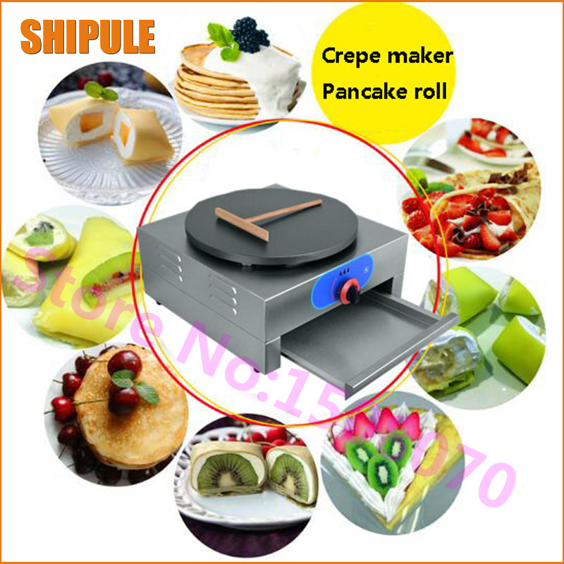 Hot High Efficiency Commercial Single Plate Gas Crepe Maker Machine LPG Crepe Making Machine For Small Business edtid new high quality small commercial ice machine household ice machine tea milk shop