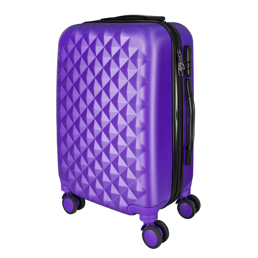 Bright blue PROFFI TRAVEL PH8367violet, S, plastic suitcase with 4 wheels with combination lock 2pcs travel bags replacement luggage suitcase wheels left