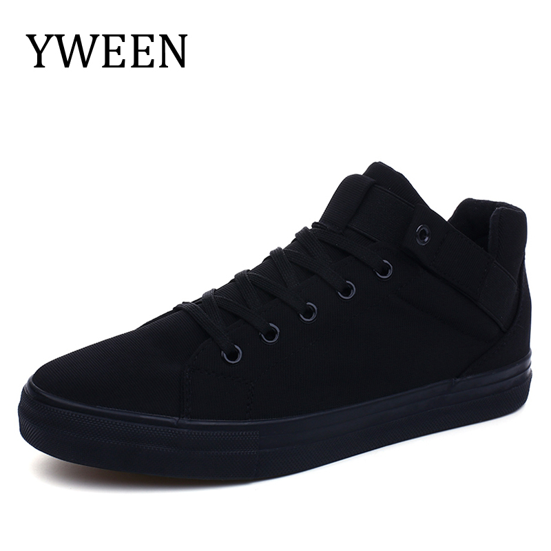 YWEEN 2018 Fashion High top Men's Casual Shoes High Quality Men Canvas Shoes Breathable Man Lace up Brand Sneakers for Students hot sale 2016 top quality brand shoes for men fashion casual shoes teenagers flat walking shoes high top canvas shoes zatapos