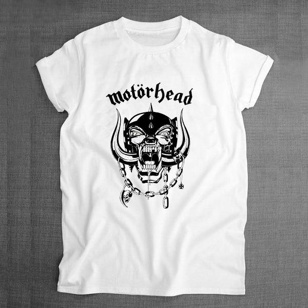 Tshirt Heavy Metal Motorhead Graphic Print Men T-shirt Boys Print White Tshirt 2017 Summer Style Tee Tops French Dog Pug Music Band