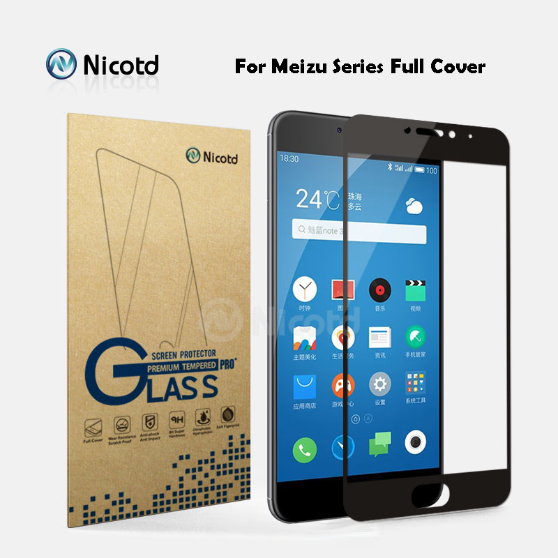 2Pcs/Lot Full Cover Tempered Glass For Meizu M5 Note M5s M3 Note M3S M3 Mini Max M3E M3X Pro 6 Plus U10 U20  Screen Protector