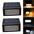 2 Шт. LED Солнечный Свет Открытый IP55 Водонепроницаемый 6LED Управления Солнечный Свет Сада Открытый Солнечный Свет, Лампы Энергосберегающие Белый/теплый Белый