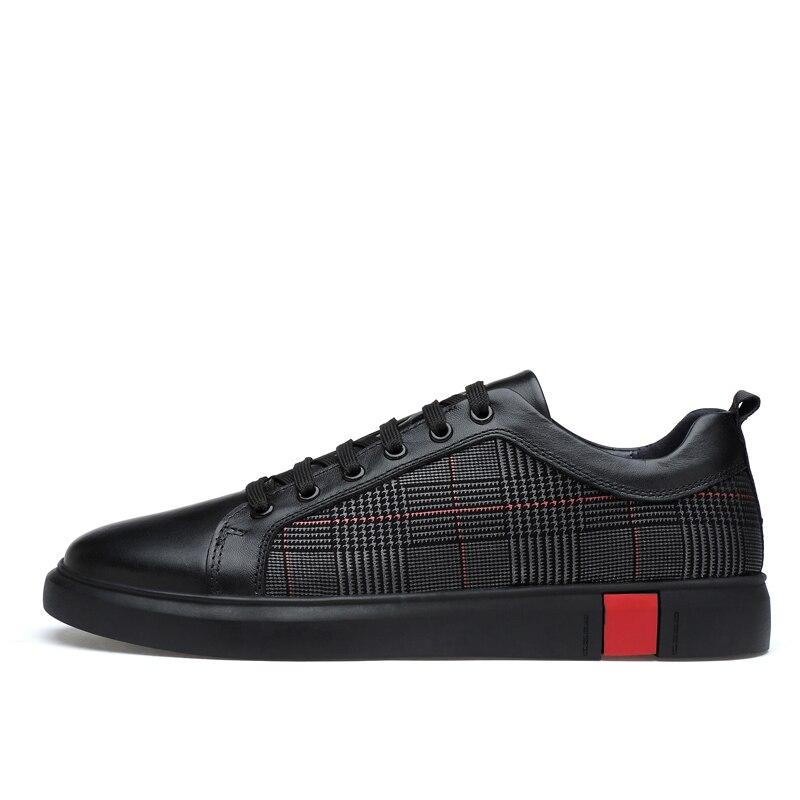 Valstone Men's Genuine leather shoes 2019 Autumn luxury Original leather sneakers designer shoes zapatillas hombre Plus size 46-