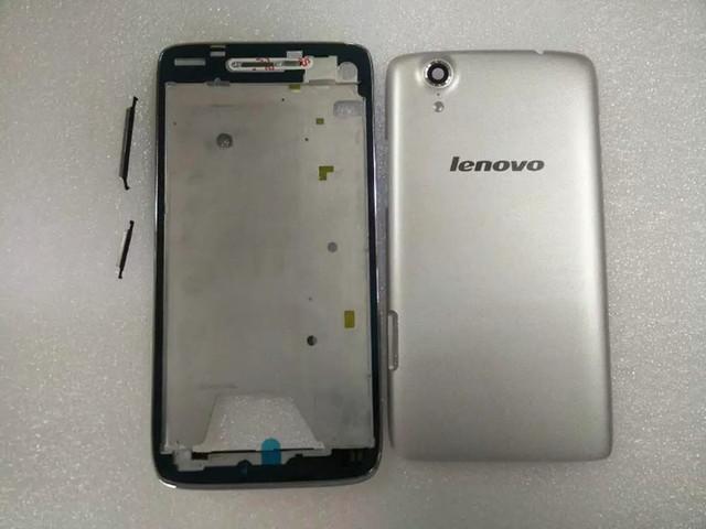 Suporte lcd moldura frontal da bateria original tampa traseira para lenovo s960 s968t habitação case com 3 m adesivo + camera lens + botões