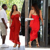 W102213 Simple Red Kim Kardashian Dresses For Sale Sweetheart Floor Length Robe De Soiree Celebrity Dresses