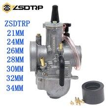 ZSDTRP 범용 오토바이 2T/4T ZSDTRP PWK 기화기 24 26 28 30 32 34 mm 파워 제트 적합 레이스 스쿠터 ATV UTV