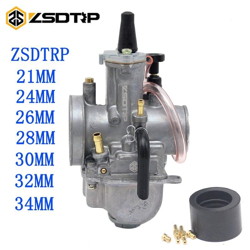 ZSDTRP Universal Motos 2 t/4 t ZSDTRP PWK Carburador 24 26 28 30 32 34mm Com Poder jet Fit Corrida Scooter ATV UTV