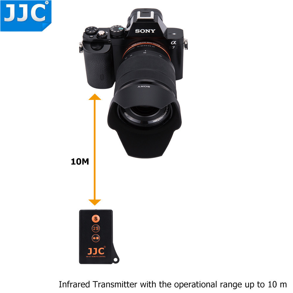 JJC IR inalámbrico de Control remoto para SONY a7SIII a77II a7RIII a7S a6300 a6000 NEX5N NEX6 NEX7 reemplazar RMT-DSLR1 RMT-DSLR2