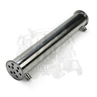3 Stainless steel 304 condenser. Length 500mm, 9 pipes